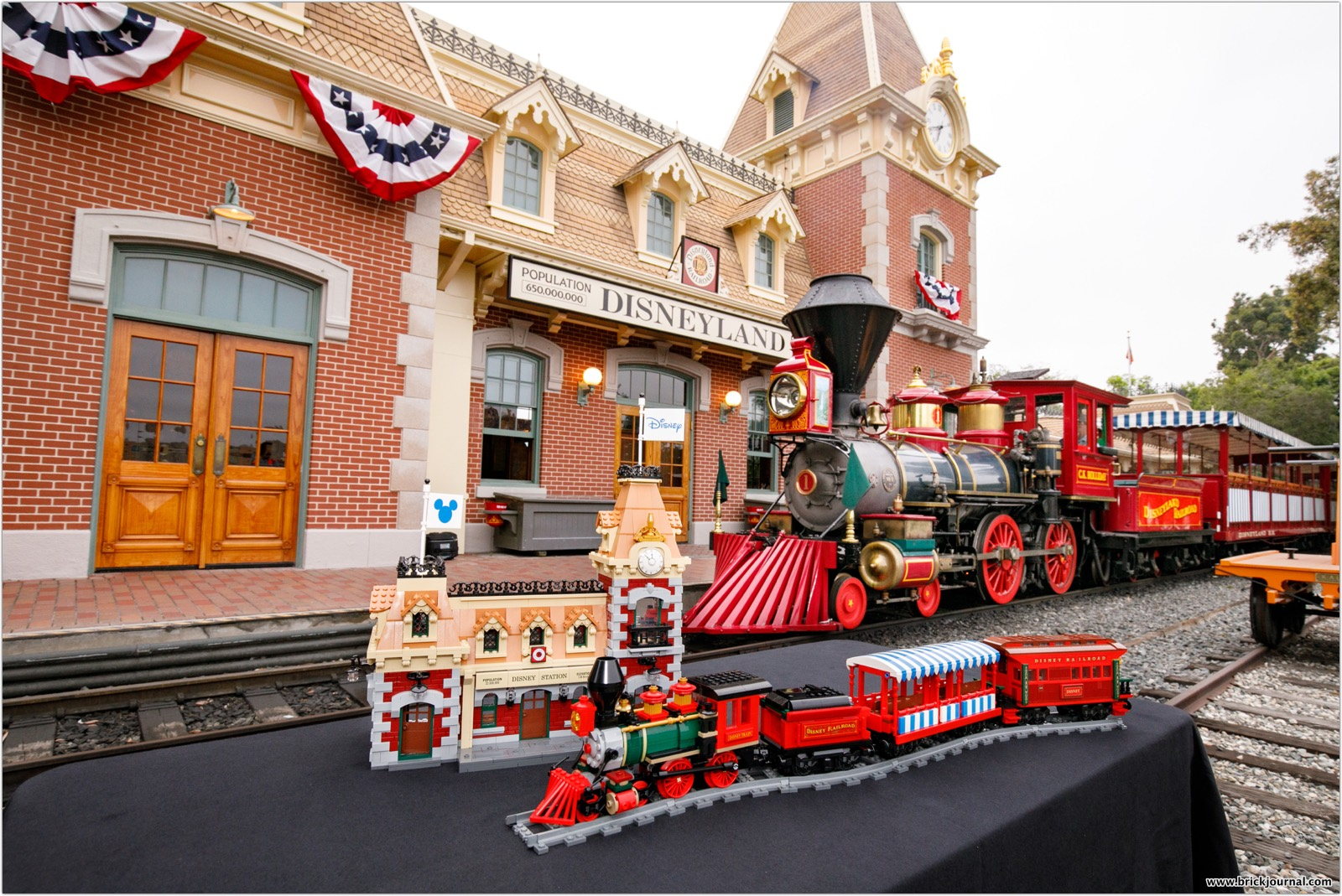 Celebrate the magic with the LEGO® Disney Train and Station!